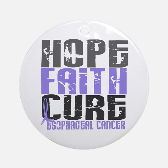 HOPE FAITH CURE Esophageal Cancer Ornament (Round)