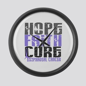 HOPE FAITH CURE Esophageal Cancer Large Wall Clock