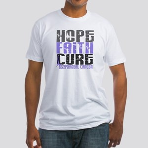 HOPE FAITH CURE Esophageal Cancer Fitted T-Shirt
