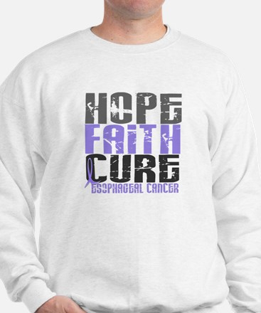 HOPE FAITH CURE Esophageal Cancer Sweatshirt