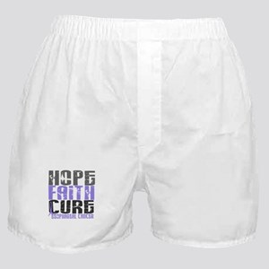 HOPE FAITH CURE Esophageal Cancer Boxer Shorts