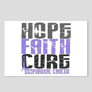 HOPE FAITH CURE Esophageal Cancer Postcards (Packa