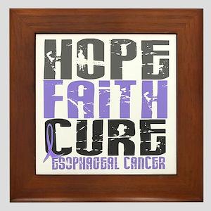 HOPE FAITH CURE Esophageal Cancer Framed Tile