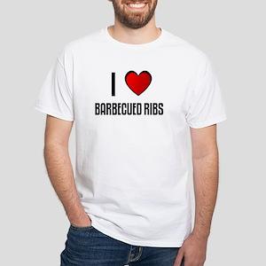 I LOVE BARBECUED RIBS White T-Shirt