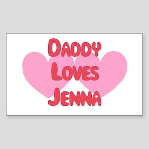Daddy Loves Jenna Rectangle Sticker