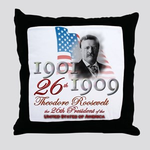 26th President - Throw Pillow