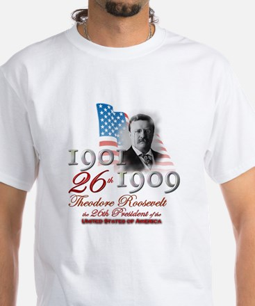 26th President - White T-Shirt
