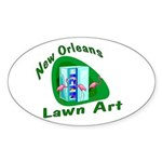 Hurricane Katrina Survivor Oval Sticker