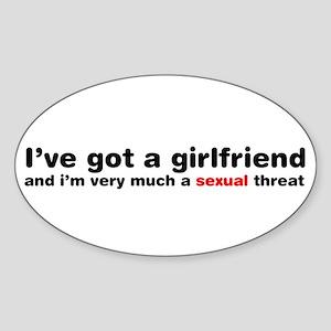 Im A Sexual Threat Oval Sticker