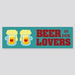 Beer Lovers Bumper Sticker