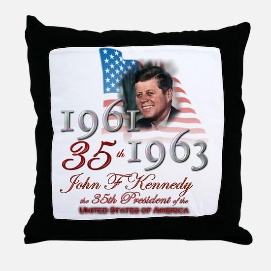 35th President - Throw Pillow