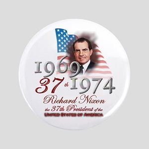"37th President - 3.5"" Button"