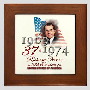 37th President - Framed Tile