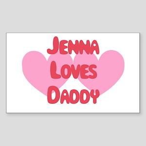 Jenna Loves Daddy Rectangle Sticker