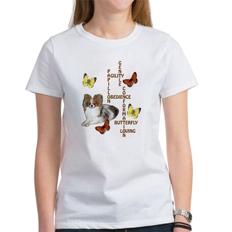papillon crossword puzzle Women's T-Shirt