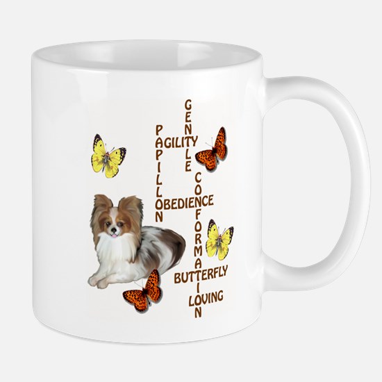 papillon crossword puzzle Mug