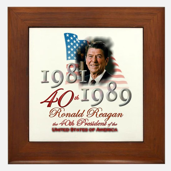 40th President - Framed Tile