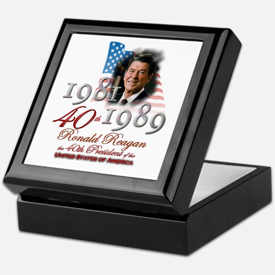 40th President - Keepsake Box