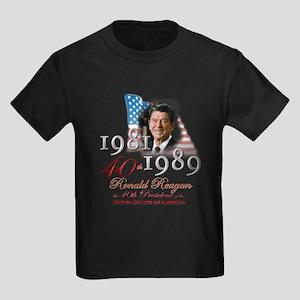 40th President - Kids Dark T-Shirt