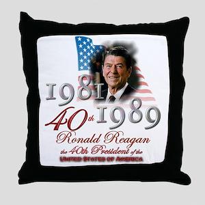 40th President - Throw Pillow