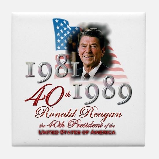 40th President - Tile Coaster