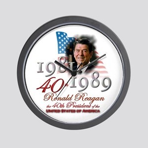 40th President - Wall Clock