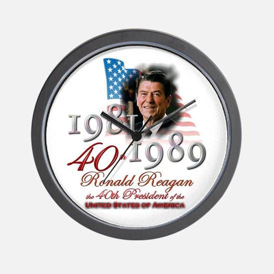 40th President - Wall Clock