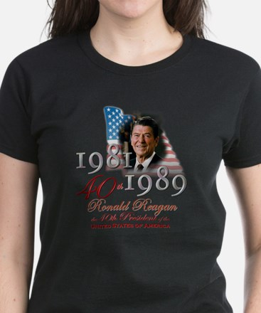 40th President - Women's Dark T-Shirt