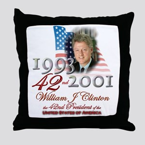 42nd President - Throw Pillow