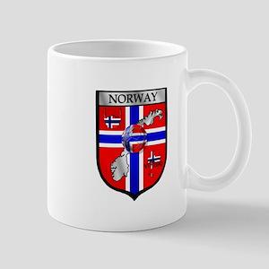 Norway Soccer Shield 11 oz Ceramic Mug
