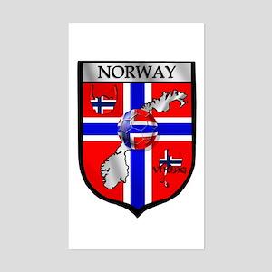 Norge Norwegian Soccer Shield Rectangle Sticker