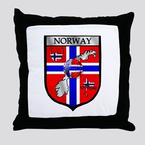 Norway Soccer Shield Throw Pillow