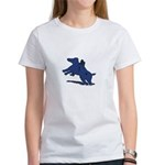 Blue Dachshund Women's T-Shirt