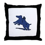 Blue Dachshund Throw Pillow