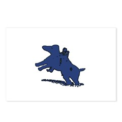 Blue Dachshund Postcards (Package of 8)