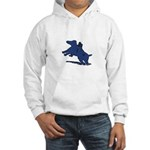 Blue Dachshund Hooded Sweatshirt