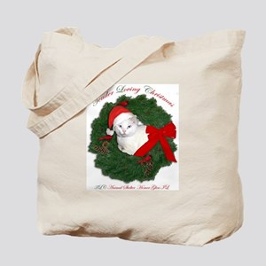 Shorty the cat in wreath Tote Bag