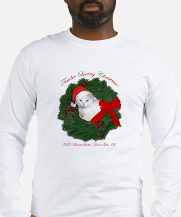 Shorty the cat in wreath Long Sleeve T-Shirt
