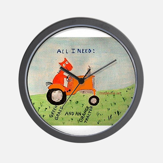 Funny Allis chalmers tractor Wall Clock