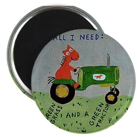 Green Tractor Magnet