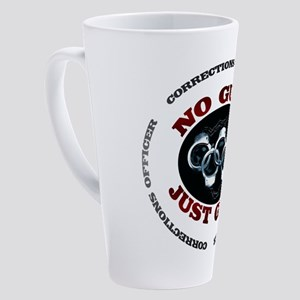 No Guns Just Guts 17 oz Latte Mug