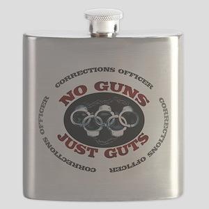 No Guns Just Guts Flask