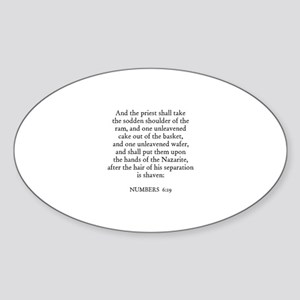NUMBERS 6:19 Oval Sticker