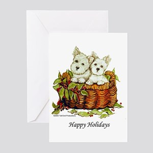 Westie Holidays Greeting Cards (Pk of 10)