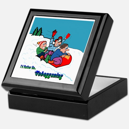 I'd Rather Be Tobogganing Keepsake Box