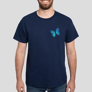 Blue Morpho Butterfly Dark T-Shirt