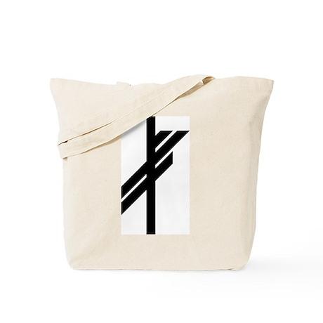 Viking Rune - Luck-BW Tote Bag