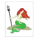 Mermaid with Red Hair Small Poster