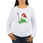 Mermaid with Red Hair Women's Long Sleeve T-Shirt