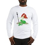 Mermaid with Red Hair Long Sleeve T-Shirt